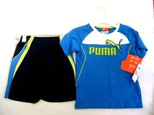 NWT PUMA KIDS ATHLETIC 2 PIECE SET SHORT SLEEVE T - SHIRT AND SHORTS SIZE 6 7bc9291d3