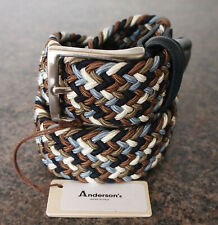 Anderson's Woven Textile Belt Size 90 36 Waist Made In Italy Andersons