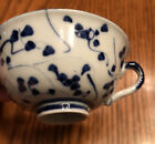 Tek Sing Style Teacup   Flow Blue And White   Antique  Excellent Cond