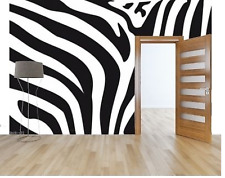 Mural wall sticker - zebra stripes - 11.5 pi x 8 pi - CUSTOM ADHESIF DECO DECOR