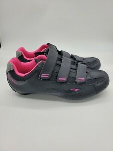 Tommaso Pista 100 women's Cycling Shoe w/cleat - Black/Pink -  Size 10.5 - NWT