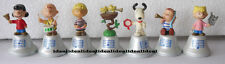 Pepsi Twist The Peanuts Snoopy and Charlie Brown Mini Hand Bell Figure LOT of 7