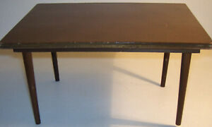 2 Piece Lot Mid-Century Mattel Modern Wood Dining Table & Bed Japan Barbie Doll