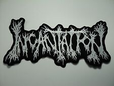 INCANTATION  WHITE SHAPED LOGO EMBROIDERED BACK PATCH