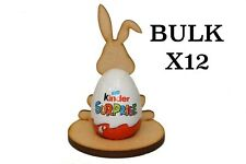 Wooden MDF Easter Bunny Rabbit Craft Kinder Egg x12 Holder Perfect Easter Gift