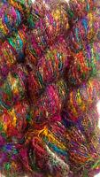 100 Grams Himalaya Recycled Soft Pure Sari Silk Yarn Knit Woven 1 Skein