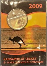 2009 KANGAROO AT SUNSET F12 Privymark Silver Coin on Card