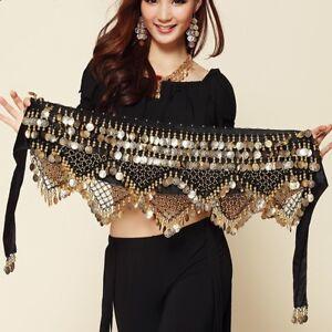 Belly Dance Hip Scarf Wrap Skirt Dancing Costume Coins Belt Waist Chain Skirt