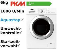 Waschmaschine PKM A++ 1000 U/min 6Kg Aquastop Startzeitvorwahl NEU Aquastopp