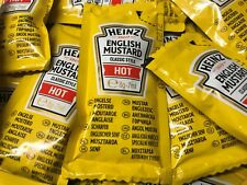 Heinz English Mustard Sauce Individual 8g Sachets Travel Holiday Lunchbox Packs