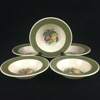 Set of 5 VTG Berry Sauce Bowls by Metlox Poppytrail Vernon Provincial Fruit USA