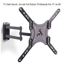 LED LCD Plasma Flat Screen TV Wall Mount Swivel Full Motion Tilt Bracket 17