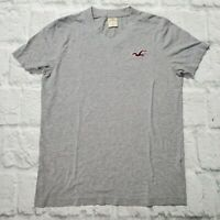 Men's Hollister T-Shirt V-Neck Short Sleeve Gray Sz S Cotton