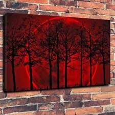 """Red Luna di Sangue Wall Art Scatola stampata foto su tela A1.30""""x20"""" TELAIO 30 mm di profondità"""