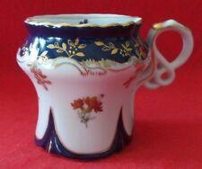 Vintage Unique Limoges France Tea Diffuser Strainer Mug Colbalt Blue Hand Paint