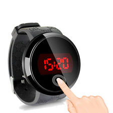 Men LED Touch Screen Day Date Silicone Wrist Watch Sports Watches wristwatch new