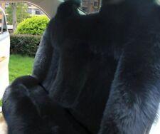 100% Real Black Sheepskin Long Wool Car Rear Seat Cover (Universal Fit)Back seat