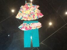 Juicy Couture New & Gen. Baby Girls Two Piece Floral Cotton Set Age 6/12 MTHS