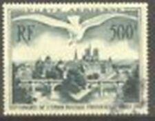 """FRANCE STAMP TIMBRE AERIEN 20 """" UPU PONTS PARIS MOUETTE 500F 1947 """" OBLITERE TTB"""