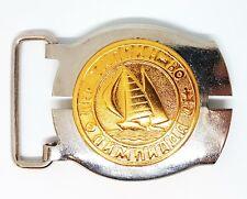 Vintage Belt Buckle TALLINN Marine Regatta USSR Olympic Games Moscow 1980