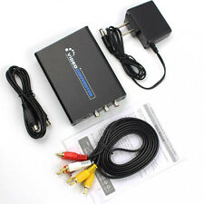 1080P HDMI To 3 RCA AV CVBS Composite S-Video R/L Audio Converter Adapter USA
