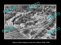 OLD LARGE HISTORIC PHOTO PUTNEY LONDON ENGLAND AERIAL VIEW MANOR FIELDS c1940