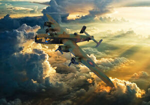 Handley Page Halifax BIII Bomber  canvas prints various sizes free delivery
