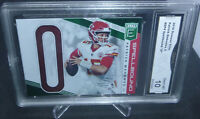 2019 Donruss Elite Patrick Mahomes Spellbound O Card #SP4 GMA Graded Gem Mint 10