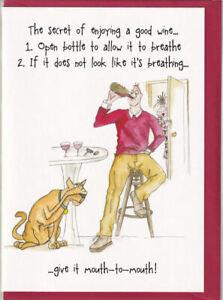 Enjoying A Good Wine Camilla & Rose Greetings Card birthday humorous and