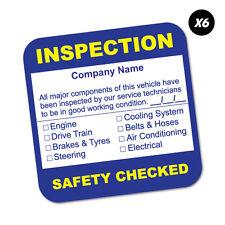 6X Custom Company Name Inspection Service Sticker Decal Next Oil #6672EN