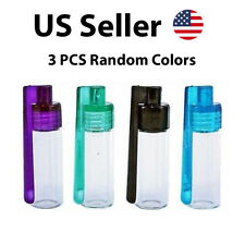 3pc 31mm Glass Bottle Snuff Snorter Botella Bullet Rocket Acrylic Snuff Ran