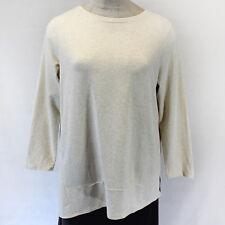 NEW Pure Jill J Jill Woman Plus Size Cozy Beige Top Blouse Stretch w/pockets 3X
