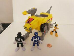 Imaginext Power Ranger Figure Lot, Sabertooth Zord,  Pink, Blue, Black, Combine