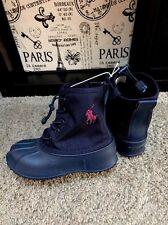 """POLO Ralph Lauren  Girls""""Rain """"Boots SZ 12 Kids"""