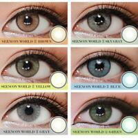 1 Pair Big Eyes Natural Comfort Men Women Circle Coloured Contact Lenses De Lind