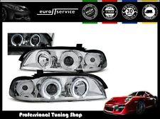 NEUF FEUX AVANT PHARES LPBM28 BMW E39 1995-1999 2000 2001 2002 2003 ANGEL EYES