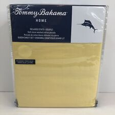 Tommy Bahama Maize Full Sheet Set Relaxed State Yellow 100% Cotton Percale