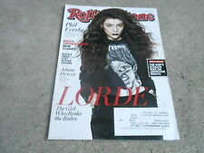 JAN 30 2014 ROLLING STONE music magazine LORDE