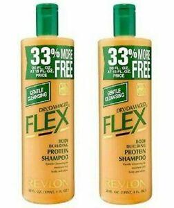 Original Revlon Flex Seco Dañado Champú 592ML / 591ml (Pack De 2)