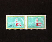 1970 RVN South Vietnam 2 Postal Stamps MNH Asian Productivity Year 10d