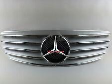 2003~2006 W211 Mercedes E Class E200 E320 E500 E55 AMG 5 fins Grill (SILVER)