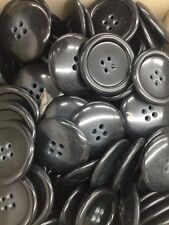 "144  Real Horn Buttons 1-1/4"" Black , Coats , Dresses, Etc. #325"