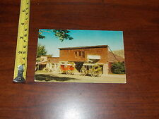 Vintage Postcard Livery Stable Stagecoach Old Western Transportation