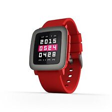 Pebble Time Smartwatch Red - FREE SHIP - FAST SHIP