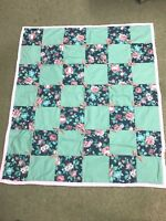 Handmade Lap Quilt/Wall Hanging, Floral design
