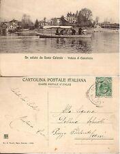 [PP1] CARTOLINA SESTO CALENDE VEDUTA DI CASTELLETTO