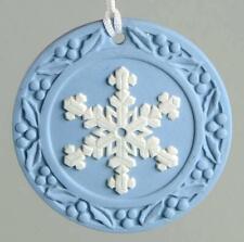 2001 Genuine Wedgwood Snowflake Annual Blue Jasperware Ornament Boxed / England