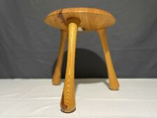 More details for vintage ingvar kamprad for habitat beach 3 legged milking stool wood / wooden