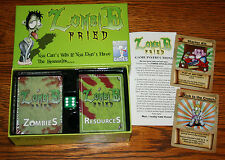 NEW SEALED ZOMBIE FRIED CARD GAME BY INWAP GAMES w/2 PROMO CARDS