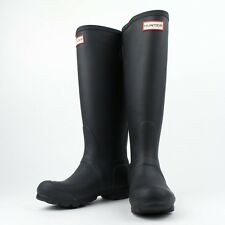 NIB HUNTER Black Original Tall Back Adjustable Rain Boots Size US 6 UK 4 EU 37